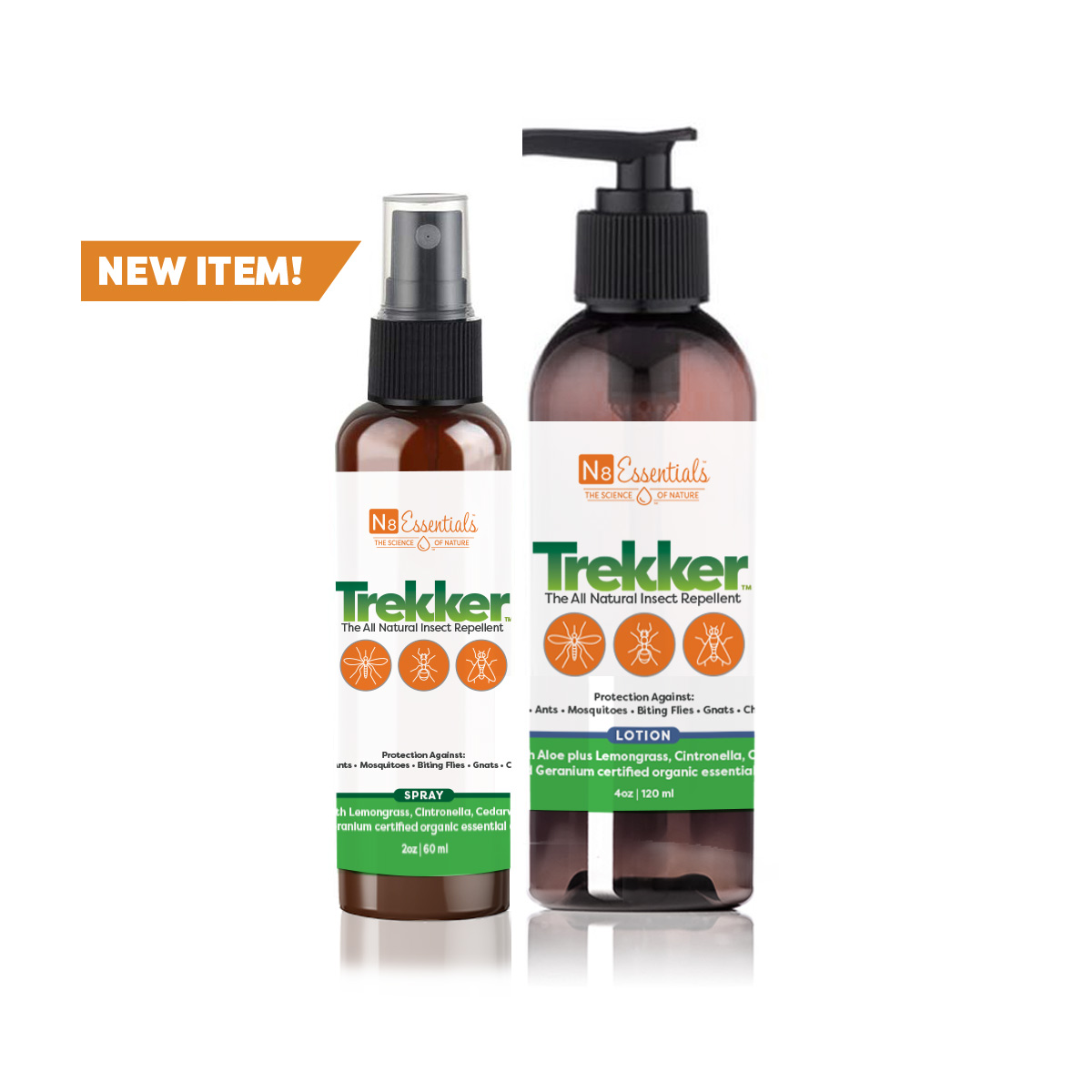 Trekker™ All Natural Insect Repellent Spray + Lotion