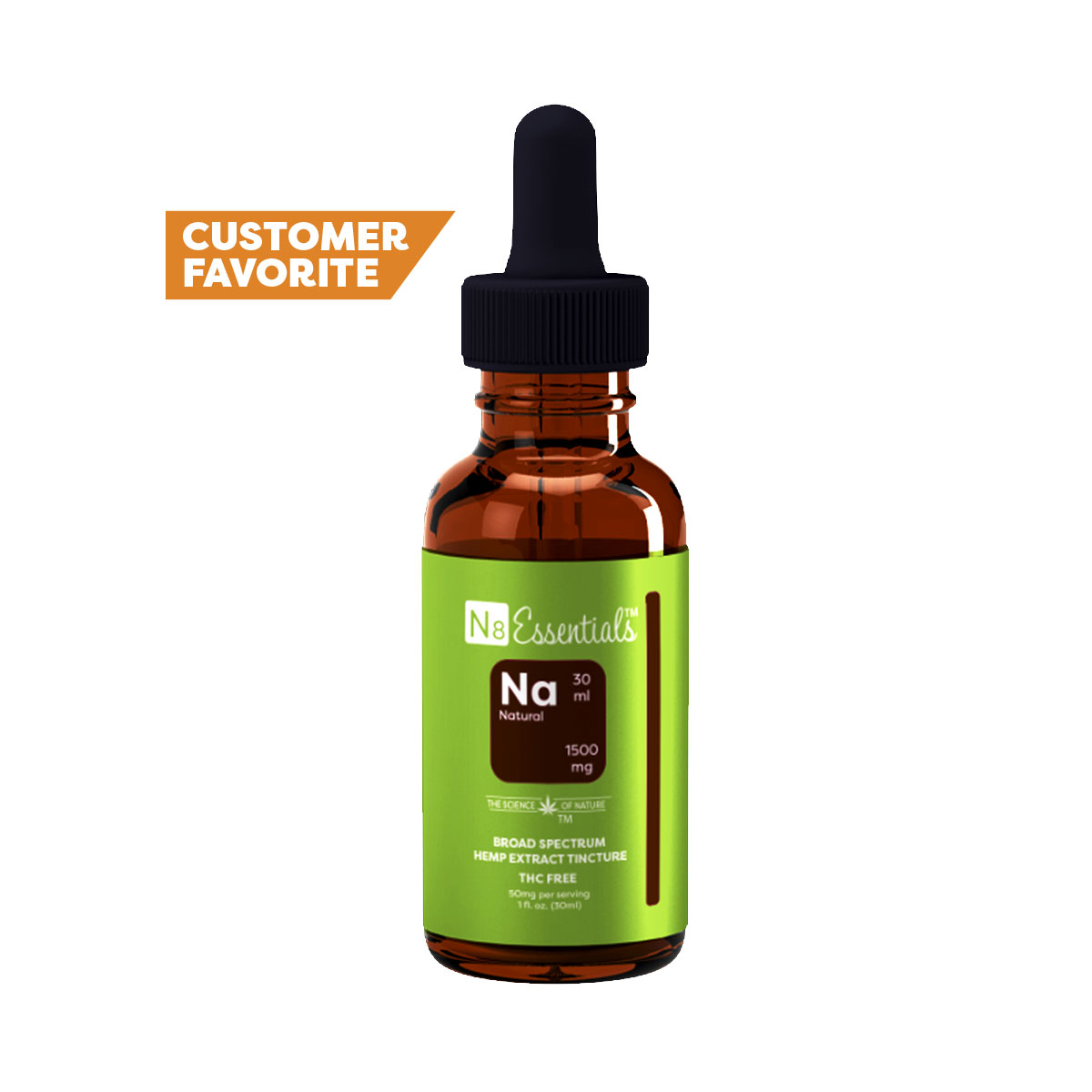Natural CBD 1500mg Tincture